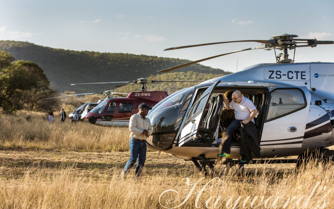 helicopter transfers on safari
